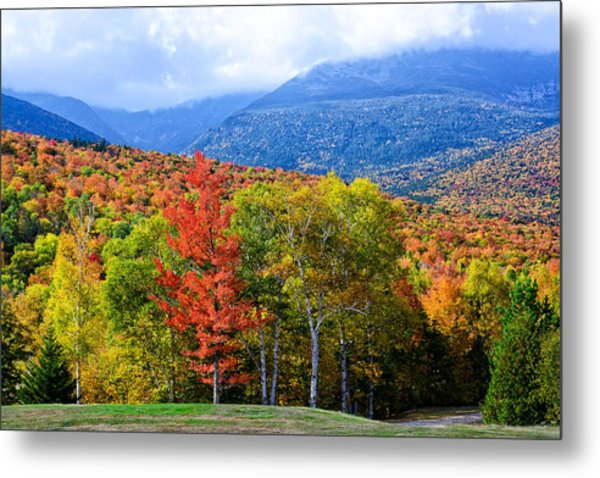 Metal Print featuring the photograph Autumn White Mountains Nh by Michael Hubley