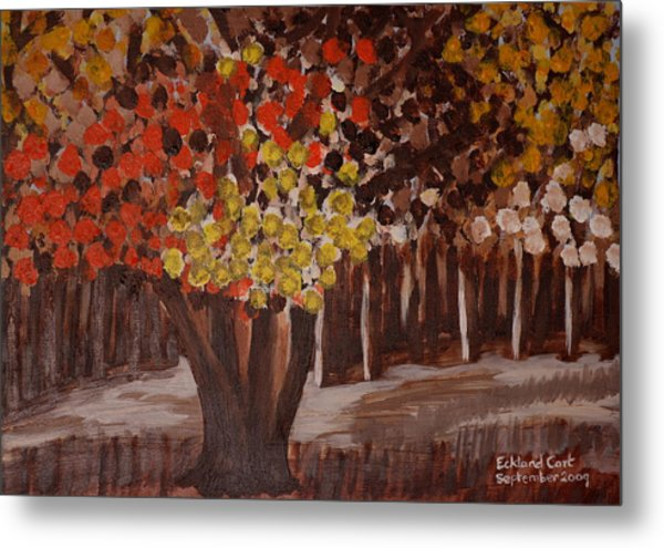 Autumn Woodland 2 Metal Print by Eckland Cort