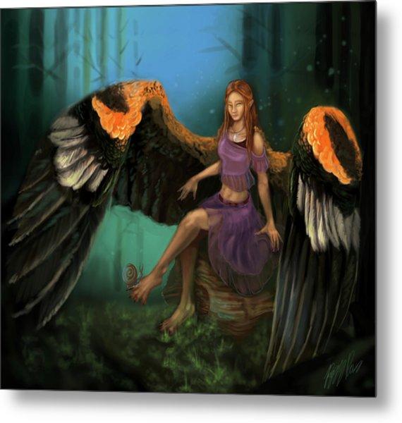 Autumn's Wings Metal Print by Poppy Paizs