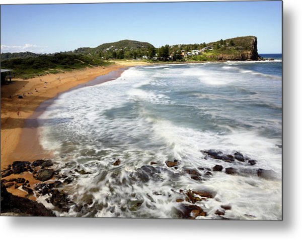 Metal Print featuring the photograph Avalon Beach by Nicholas Blackwell