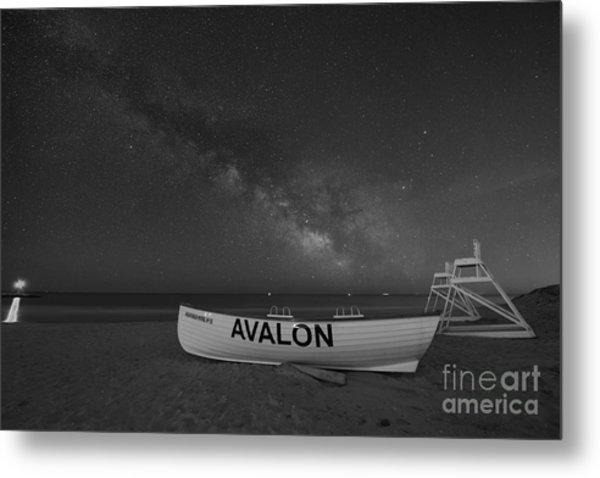 Avalon Milky Way Bw Metal Print