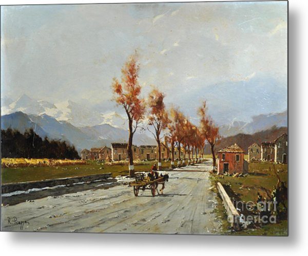 Metal Print featuring the painting Avellino's Landscape  by Rosario Piazza