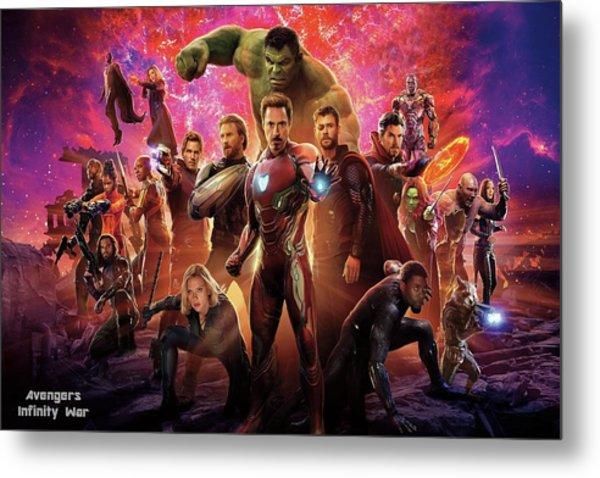 Avengers Infinity War Metal Print
