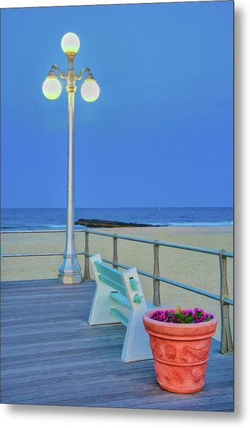 Avon Boardwalk At Twilight Metal Print