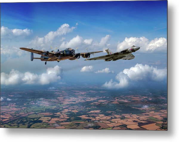 Metal Print featuring the photograph Avro Sisters  by Gary Eason