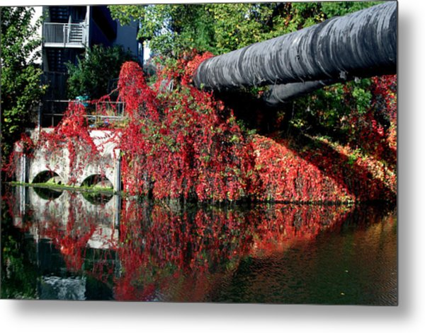 Away To The Red Metal Print by Jez C Self