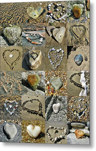 Awesome Hearts Found In Nature - Valentine S Day Metal Print