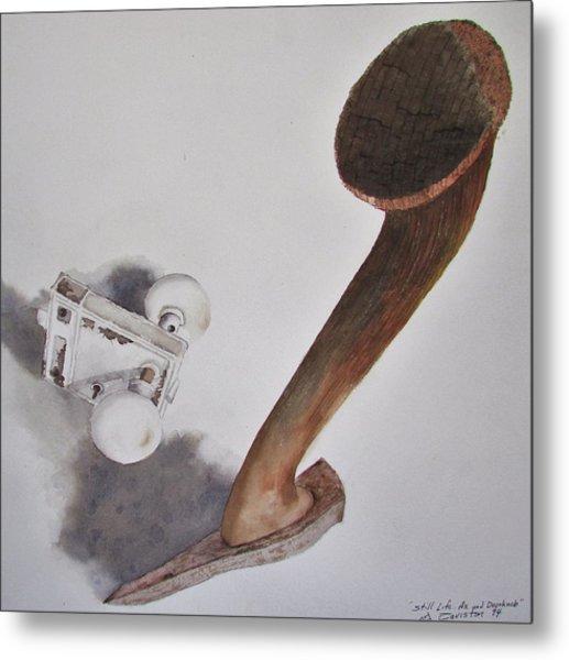 Axe And Doorknob Metal Print