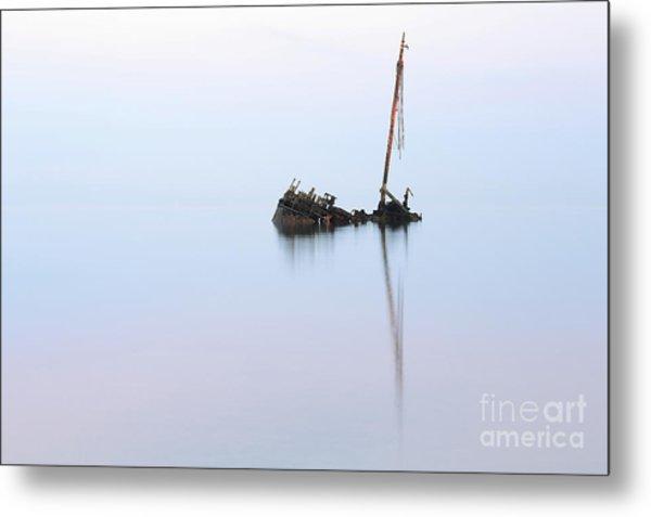 Ayrshire Shipwreck In Sunrise Ref3342 Metal Print