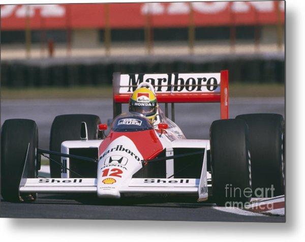 Ayrton Senna. 1988 Mexican Grand Prix Metal Print