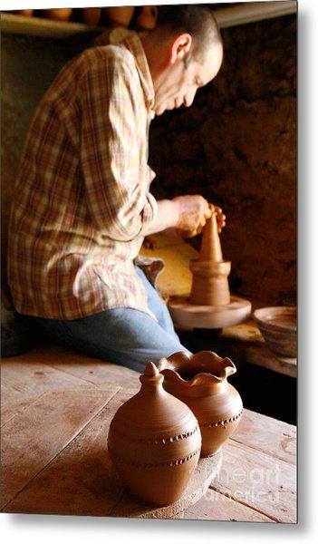 Azorean Potter Metal Print