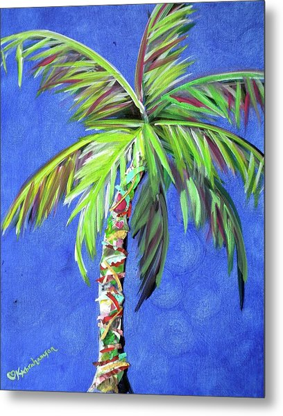 Azul Palm Metal Print