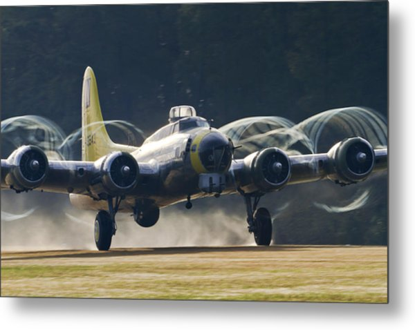 B-17 Chuckie Taking Off Metal Print