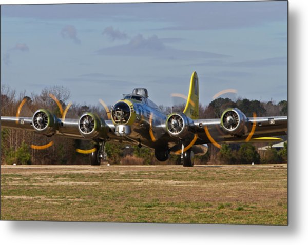 B-17 Chuckie Taxis Out Metal Print