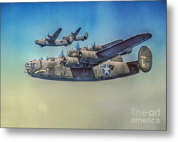 B-24 Liberator Bomber Metal Print