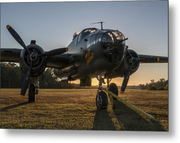 B-25 Mitchell Sunset Metal Print