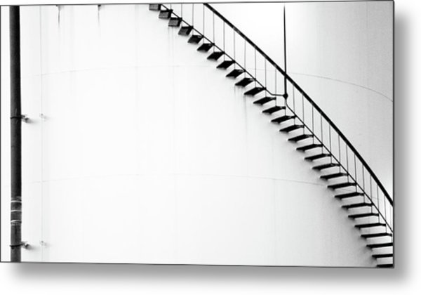 B And W Stairs Metal Print