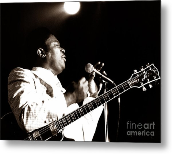 B B King And Lucille 1978 Metal Print by Chris Walter