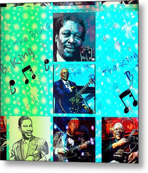 B B King Of The Blues  Metal Print