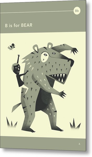 B Is For Bear Metal Print