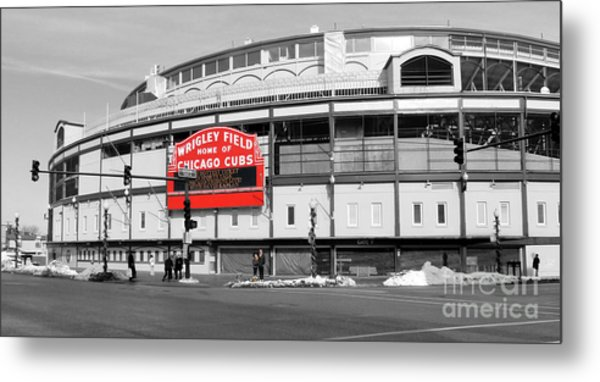 B-w Wrigley 100 Years Young Metal Print