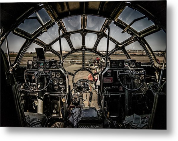 B29 Superfortress Fifi Cockpit View Metal Print