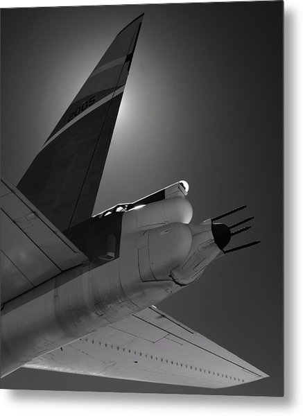 Metal Print featuring the photograph B52hind by Rand