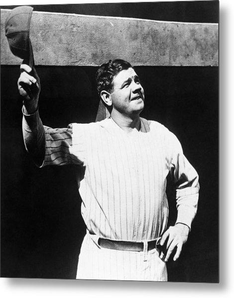 Babe Ruth 1895-1948, American Baseball Metal Print