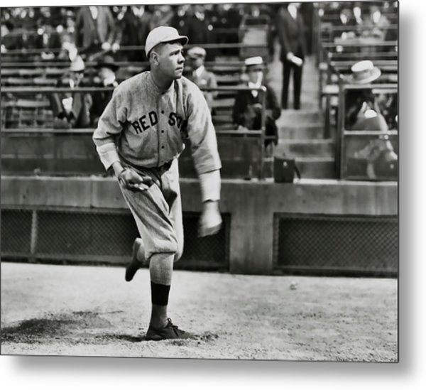 Babe Ruth - Pitcher Boston Red Sox  1915 Metal Print