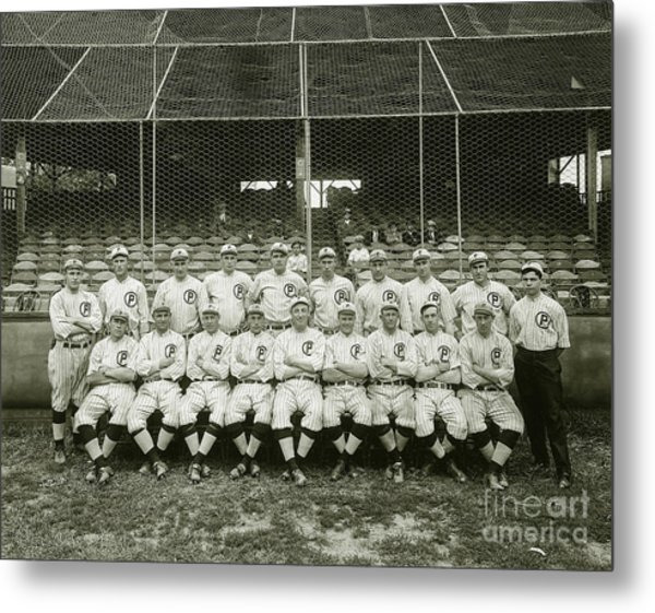 Babe Ruth Providence Grays Team Photo Metal Print
