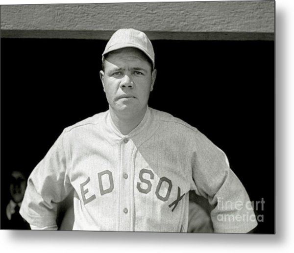 Babe Ruth Red Sox Metal Print