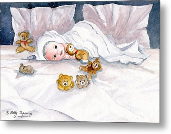 Baby And Friends Metal Print