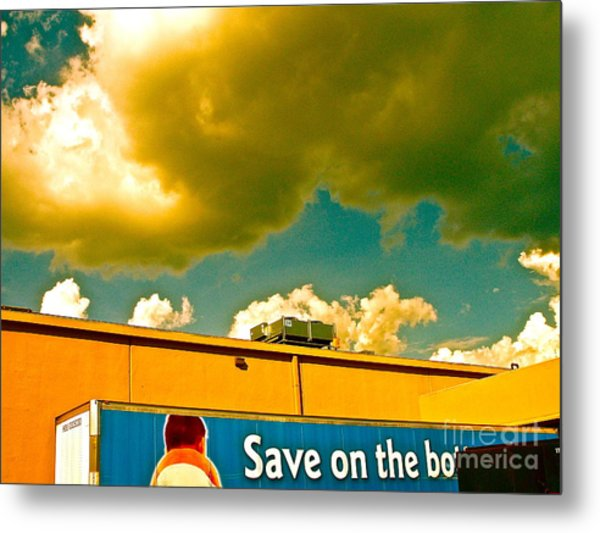 Baby Cloud Truck Metal Print by Chuck Taylor