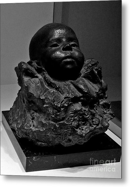 Baby Face Stone Art Metal Print