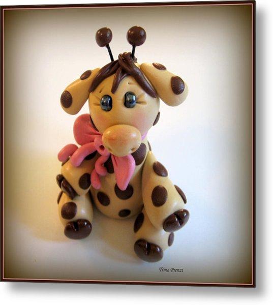 Baby Giraffe Metal Print by Trina Prenzi
