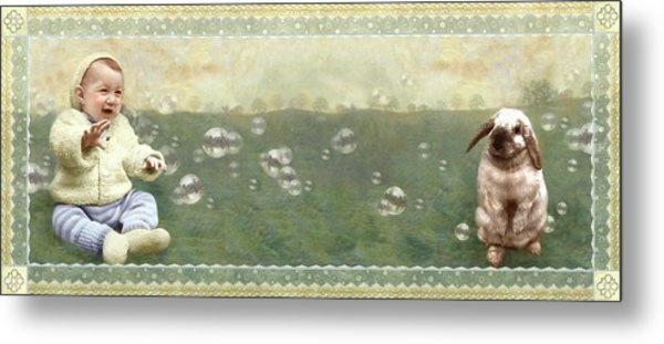 Baby Pops Bubbles Metal Print
