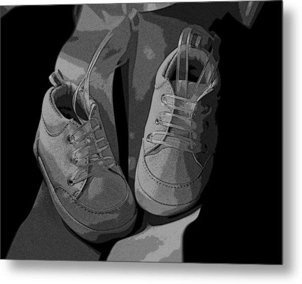 Baby Shoes Metal Print by Deborah Williams