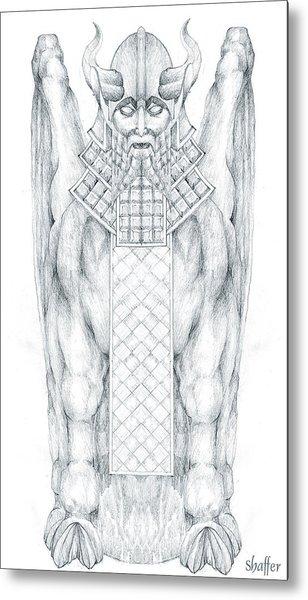Babylonian Sphinx Lamassu Metal Print