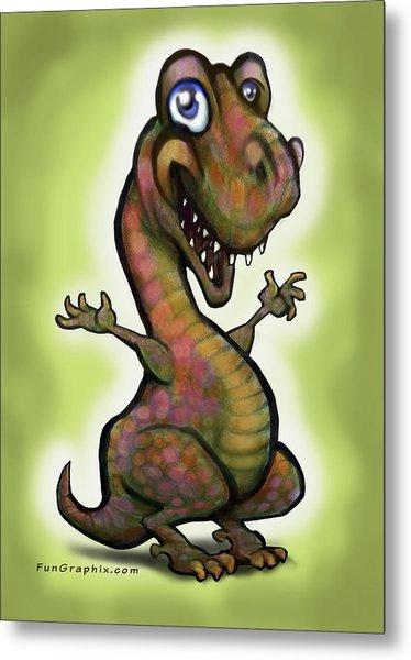 Babysaurus Rex Metal Print