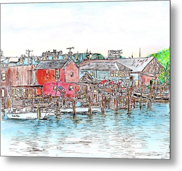 Back Bay, Atlantic City, Nj Metal Print