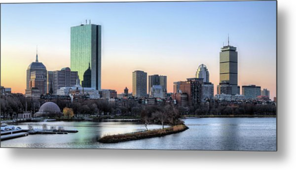 Back Bay Sunrise Metal Print
