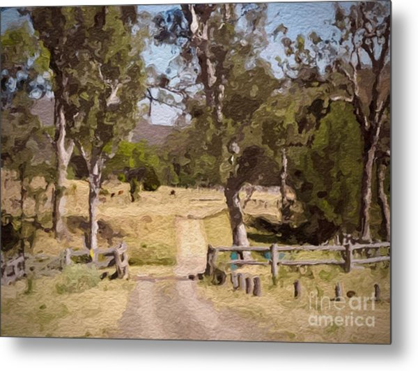 Back Country Farm Track Metal Print