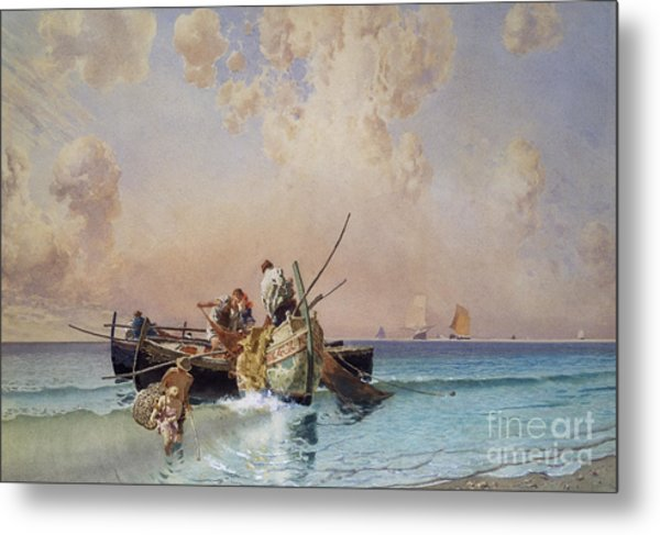 Back From Fishing Metal Print