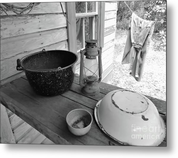 Back In Time B - W Metal Print