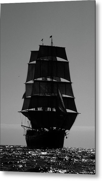 Back Lit Tall Ship Metal Print