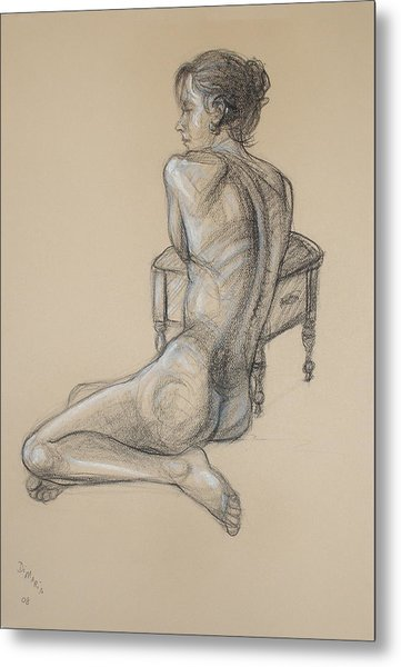 Back Nude 2 Metal Print by Donelli  DiMaria