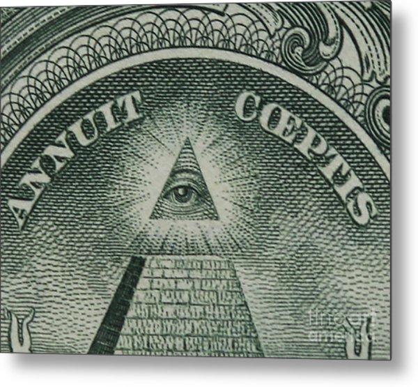 Back Of 1 Dollar Bill Metal Print