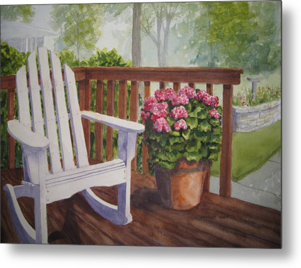 Back Porch Metal Print