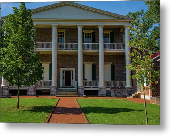 Metal Print featuring the photograph Back Porch - The Hermitage by James L Bartlett