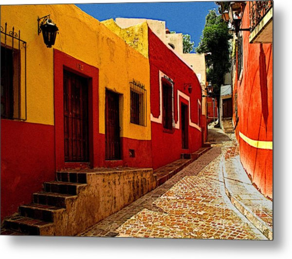 Back Street Guanajuato Metal Print by Mexicolors Art Photography